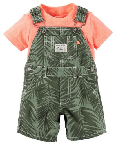 Carter/'s Infant Boys 2-Piece Beach Patrol Shirt and Bib Short Set NWT outfit