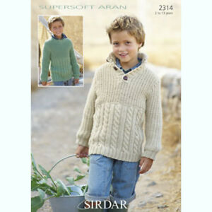 Easy Teddy Bear Knitting Pattern : Sirdar Childrens Knitting Pattern - Sweaters - 2314 - Supersoft Aran eBay