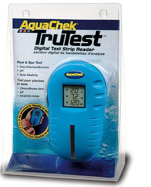 Aquachek Trutest Digital prueba de tira Lector hot tub spa 75 tiras de prueba Gratis