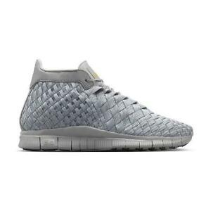 Unisex Adulto Nike Free Inneva Woven Mid SP Opaco Argento 800907 002 dimensioni UK 6