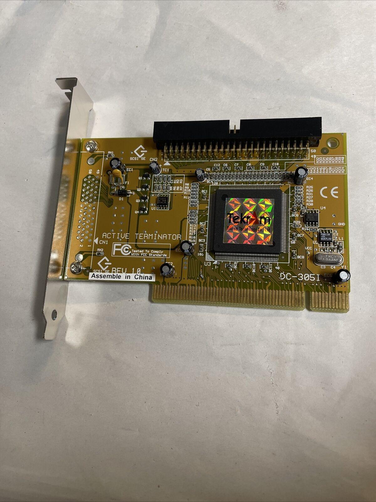 Tekram DC305I SCSI Active Terminator Controller Card 70-305001-00 @E