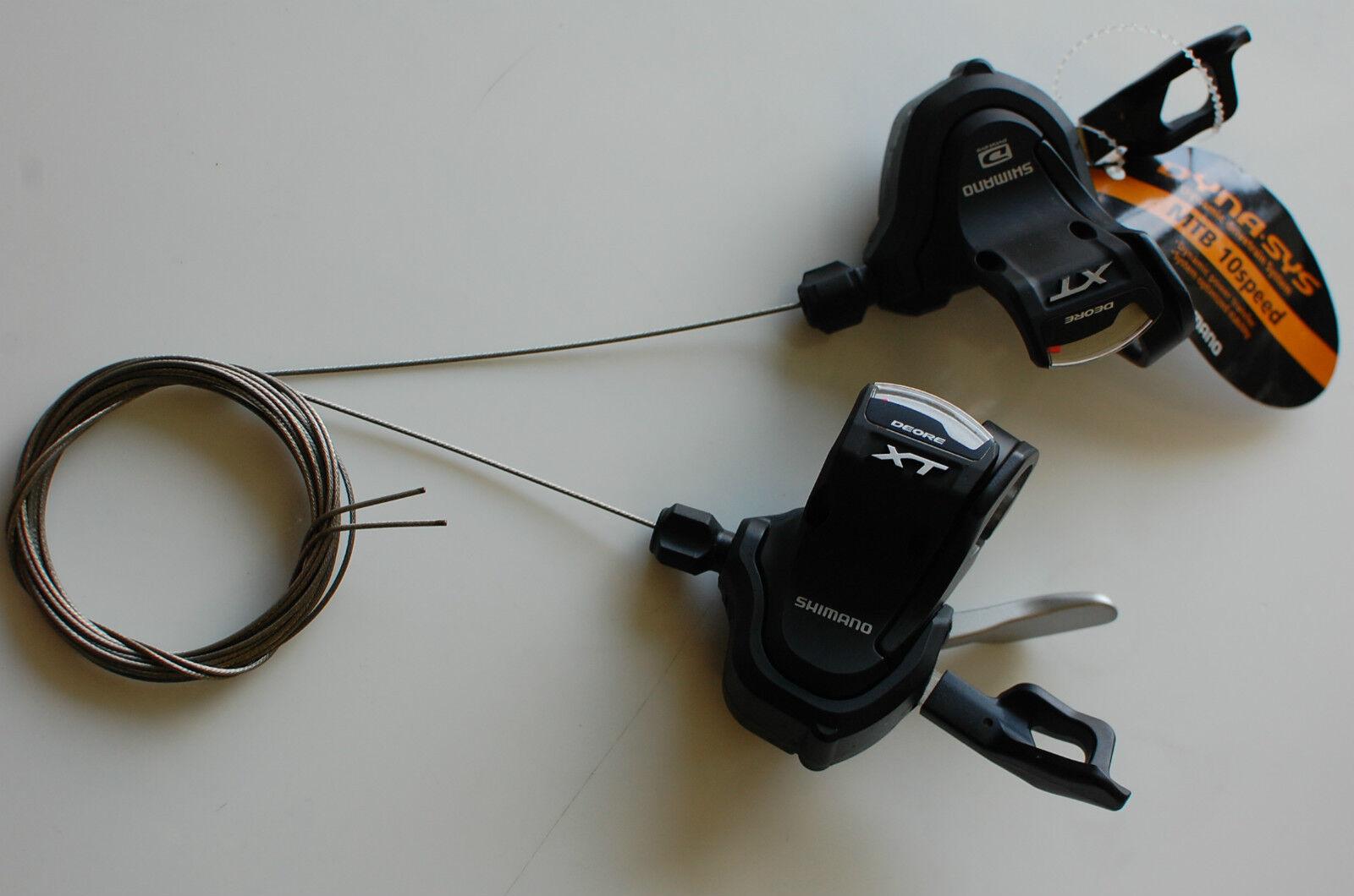 Shimano XT Rapidfire Plus Schalthebel Paar SL-M780 2 3x10fach mit Ganganzeige