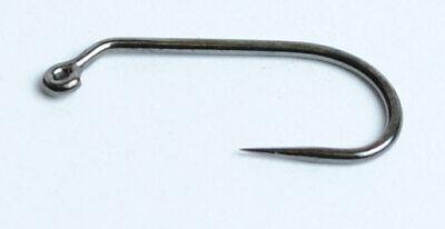 100 Barbless Black-Nickel JIG Hooks..MC-5220/>5 Sizes Available/>Fly Tying Hooks