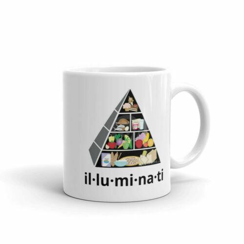 Illuminati Food Pyramid Breakfast Mug