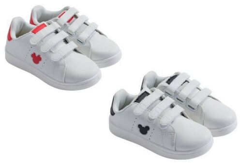 Disney Minnie Mouse Black or Red Trainers Sneakers Shoes Kids Girls  Eu Sizes