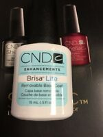 Creative Cnd Brisa Lite Removable Base Coat .5 Oz Shellac Partner Strong Nail