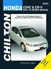 Chilton Repair Manual Honda Civic 2001-10 & CRV 2002-10 #30203 EXCLUDING CNG/HYB