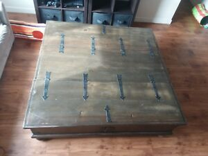 Details About Chest Coffee Table Trunk Extra Storage Large Dark Brown