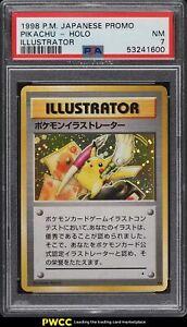 1998-Pokemon-Japanese-Promo-Holo-Illustrator-Pikachu-PSA-7-NRMT