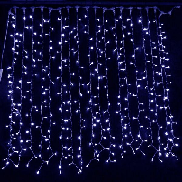 Connectable Bleu toile  led lumières rideau toile Bleu de fond Décoration Mariage Noël Xmas abc735