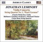 "Jonathan Leshnoff: Violin Concerto; String Quartet No. 1 ""Pearl German"" (CD, Feb-2009, Naxos (Distributor))"