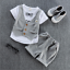Baby Boy Gentleman Outfits Kids Boys Fashion Tops+Shorts For Toddler Clothes Set