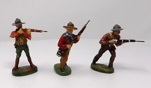 Vintage-Elastolin-Composite-Cowboys-70mm-Pre-1940-Toy-Soliders-Made-in-Germany