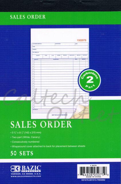 Carbonless Sales Order Receipt Record Book 2 Part 50 Sets Duplicate Receipt Copy