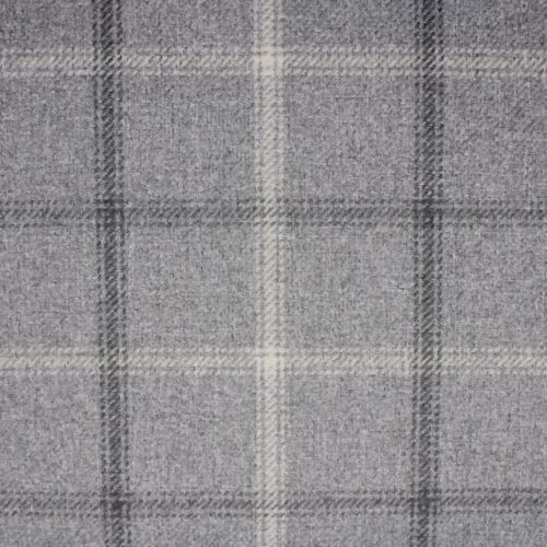 Grey 2924 Lewis Heather Wool Touch Curtain Upholstery Fabric