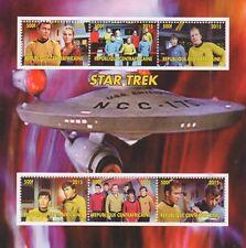 STAR TREK STARSHIP ENTERPRISE KIRK SPOCK CLASSIC SCI FI TV SHOW MNH STAMP SHEET
