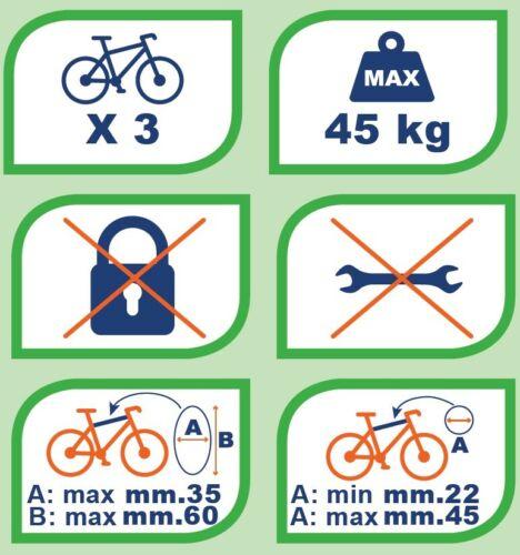 Heckträger Travel Fahrradträger kompatibel mit Daihatsu Sirion 98-05