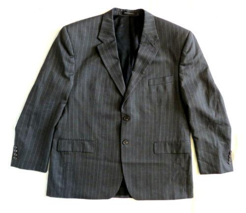 CHAPS Ralph Lauren Charcoal Gray Pinstrip Blazer S