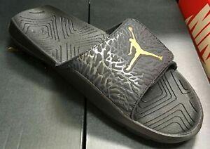 25a2b725220b76 Jordan Hydro 7 V2 Men s Sandals Black Metallic Gold BQ6290 007 Fast ...