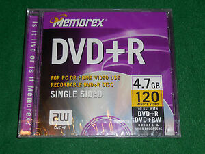 NEW-Memorex-DVD-R-4-7GB-120-Minute-PC-or-Home-Video-Use-1-Sealed-Recordable-Disc
