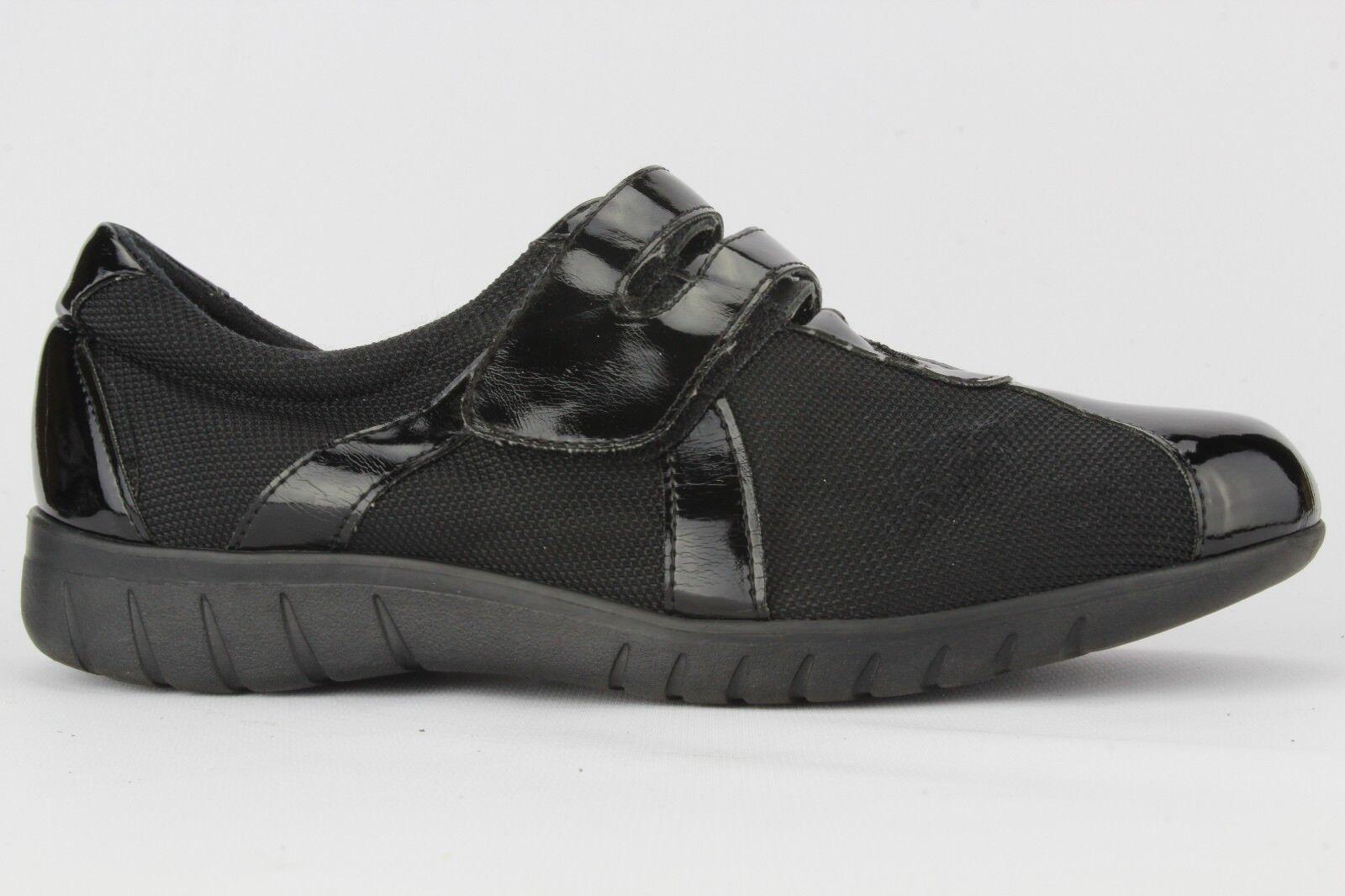 Munro American Wohombres negro Joya Velcro zapatilla de deporte W