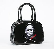 Rock Rebel Halloween Ii Michael Myers Cross Knives Classic Horror Handbag Purse