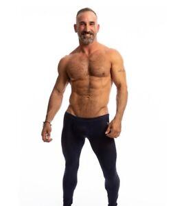 N2N Bodywear Men black Mesh raider runner tights size M or L XL