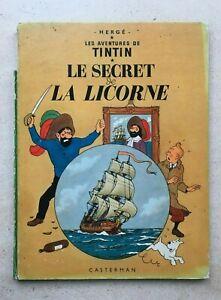 Tintin-et-Le-Secret-de-la-Licorne-Tome-n-11-par-Herge-1964-B35