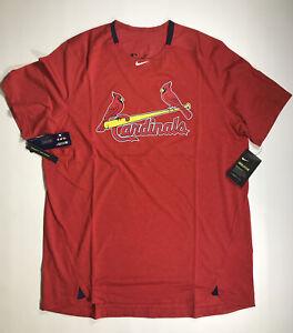 Nike AC Breathe Short Sleeve St. Louis Cardinals Dri Fit Shirt Size Large NWT