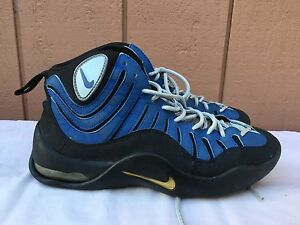 b4eab3d51558 NIKE AIR BAKIN RETRO 2008 BLACK ROYAL LIMITEDFTB BLUE 316383 041 US ...