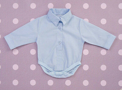 Baby Shirt-Body Long Sleeve Collared Romper Bodysuit Party Christening Suit Shirt