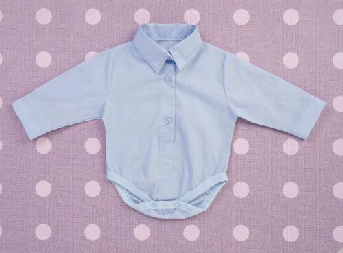Bébé Garçon Bleu Blanc Smart Body Body Shirt Baptême Baptême Anniversaire 0-18 M