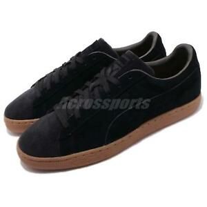 Puma-Suede-Classic-Pincord-Black-Gum-Men-Women-Casual-Shoes-Sneakers-366235-01