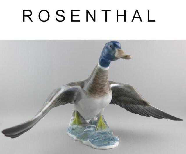 Grosse ENTE Rosenthal Porzellan Figur  Entwurf Fritz Heidenreich