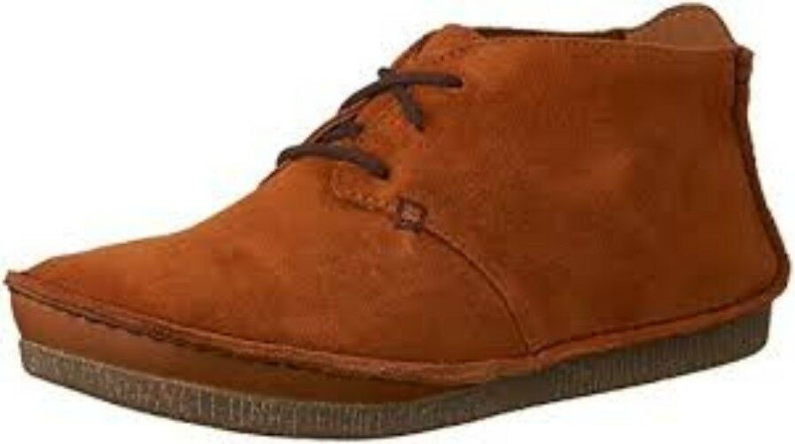 Clarks Ladies Lace-up Chukka Ankle Boots Janey Lynn Brown Suede RRP