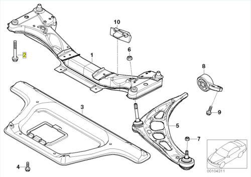 BMW Hex Bolt Screw M12 x 1.5 x 100mm Grade 10.9 6781023 31116781023