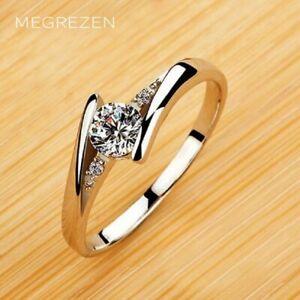 Damen-Ring-925-Silber-Mit-Zirkon-Neu-Damenringe-Eheringe-Verlobungsringe-Schmuck