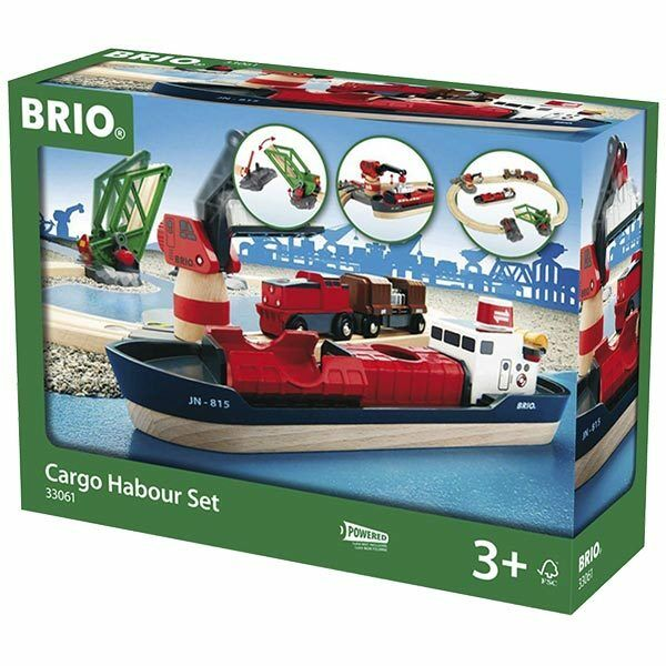 BRIO 33061 Cargo Harbour Set - Wooden Train Set