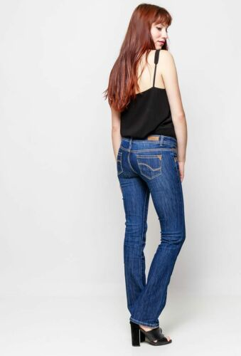 Women/'s Quality skinny Bootcut Jeans Blue faded Sizes UK 4 6 8 10 12