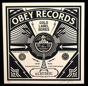 2ff80ca4d09 SHEPARD FAIREY 50 shades RECORDS sérigraphie SIGNEE OBEY GIANT MINT -  France - Authenticité  Original