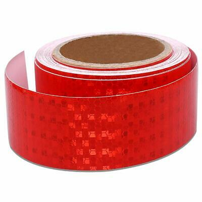3m x 50mm RED High Intensity Reflective Tape Self-Adhesive Vinyl HGV Truck Trail