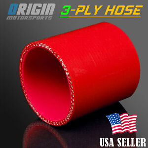 """RED 2.5/"""" 63mm 3-ply Silicone Coupler Hose Turbo Intake Intercooler For Mitsubish"""