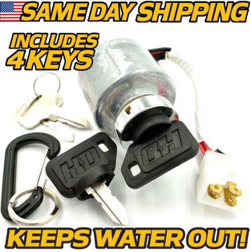 Kubota 66101-55200 Ignition Switch w/ 4 Key & Carabiner G1700 G1800 G1900 6610