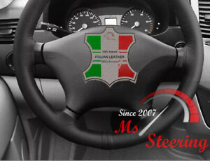 FOR-MERCEDES-W639-VITO-2-LEATHER-STEERING-WHEEL-COVER-BLACK-DOUBLE-STITCH-03-14