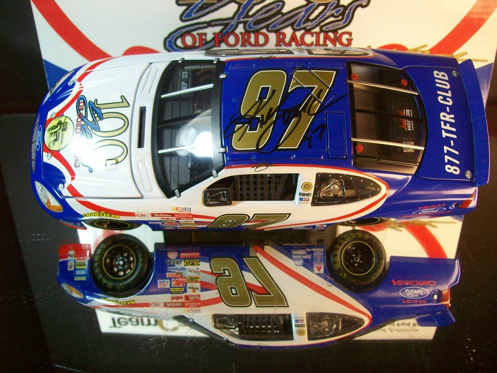 Kurt Busch Years Od Ford Racing 2001 Rookie Ford Ford Ford Taurus Autographed 1 24 3513b8