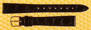 13mm JBC Leather Watch Strap Band BLACK Crocodile-Grain <<NWoT>>