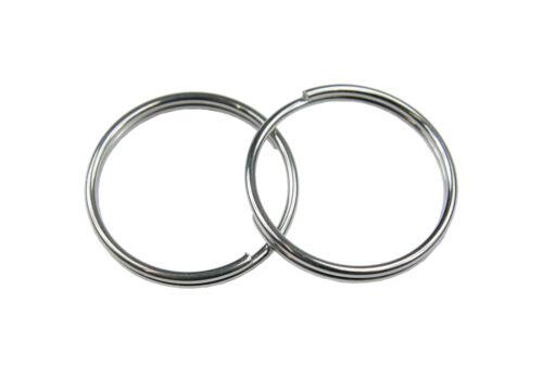 10x acier inoxydable clé ANNEAUX anneau élastique anneaux 18mm//20mm//22mm//26mm//30mm