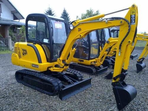 Jcb 803 Plus Super Mini Escavatore Decalcomania Set con Safty