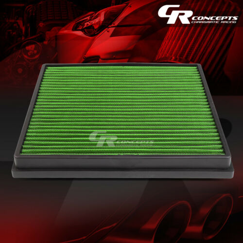 GREEN WASHABLE HIGH FLOW AIR FILTER FOR 11-15 CHEVY CRUZE 13-15 BUICK VERANO I4