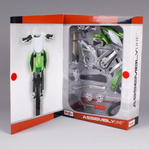 Kawasaki Kxf 450 1:12 Modellino Motocross Autoassemblato Modello Giocattolo